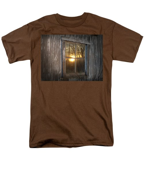 Men's T-Shirt  (Regular Fit) featuring the photograph Sunset In Glass by Cynthia Lassiter