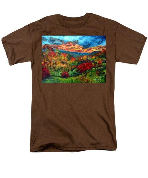 Sunset In Shenandoah Valley Men's T-Shirt  (Regular Fit) by Julie Brugh Riffey
