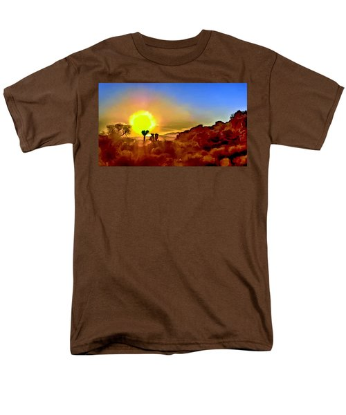 Sunset Joshua Tree National Park V2 Men's T-Shirt  (Regular Fit) by Bob and Nadine Johnston
