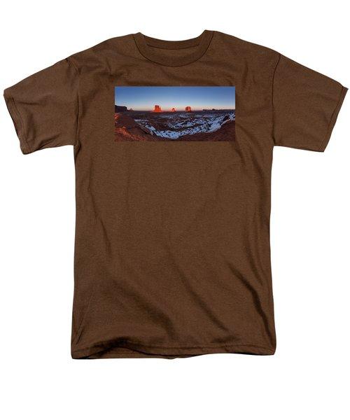 Sunset Moonrise Men's T-Shirt  (Regular Fit) by Tassanee Angiolillo