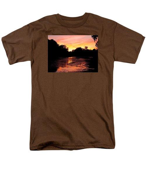Men's T-Shirt  (Regular Fit) featuring the photograph Sunset Near Rosemere - Qc by Juergen Weiss