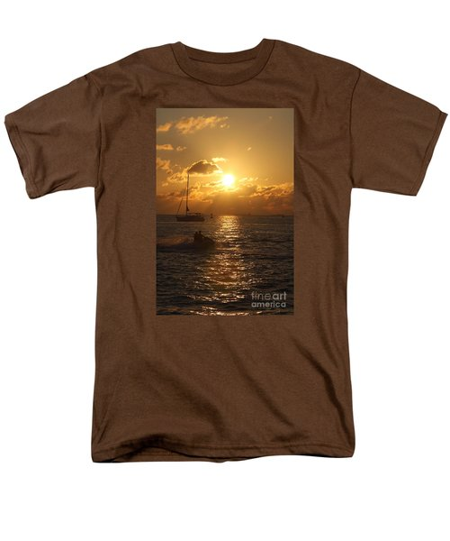 Sunset Over Key West Men's T-Shirt  (Regular Fit) by Christiane Schulze Art And Photography
