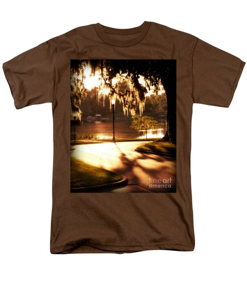 Men's T-Shirt  (Regular Fit) featuring the digital art Sunset On Lake Mizell by Valerie Reeves