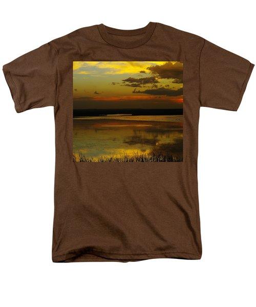 Sunset On Medicine Lake Men's T-Shirt  (Regular Fit) by Jeff Swan