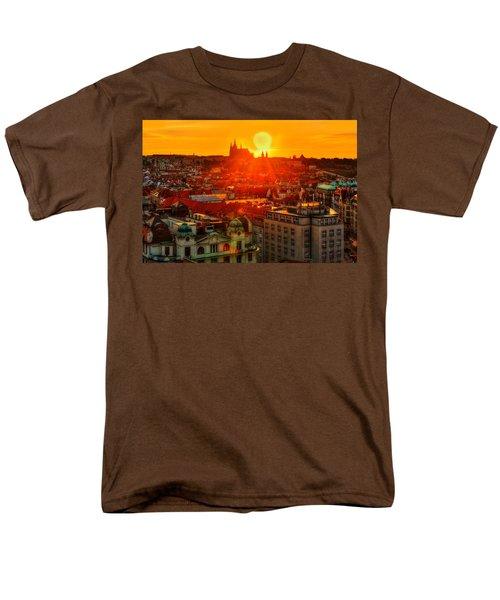 Sunset Over Prague Men's T-Shirt  (Regular Fit) by Midori Chan