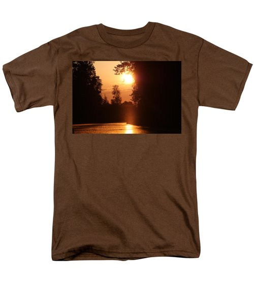 Men's T-Shirt  (Regular Fit) featuring the photograph Sunset Over The Canals by Rogerio Mariani