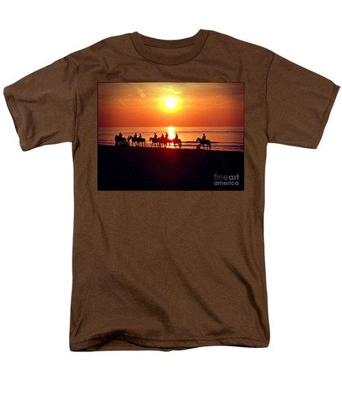 Sunset Past Time Men's T-Shirt  (Regular Fit) by Nina Ficur Feenan