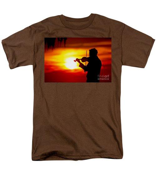 Men's T-Shirt  (Regular Fit) featuring the photograph Sunset Violin Serenade Louisiana by Luana K Perez