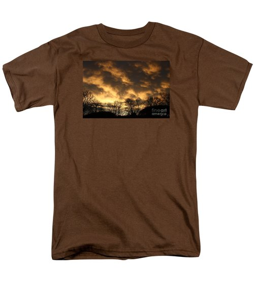 Men's T-Shirt  (Regular Fit) featuring the photograph Sunset Silhouettes by Nareeta Martin