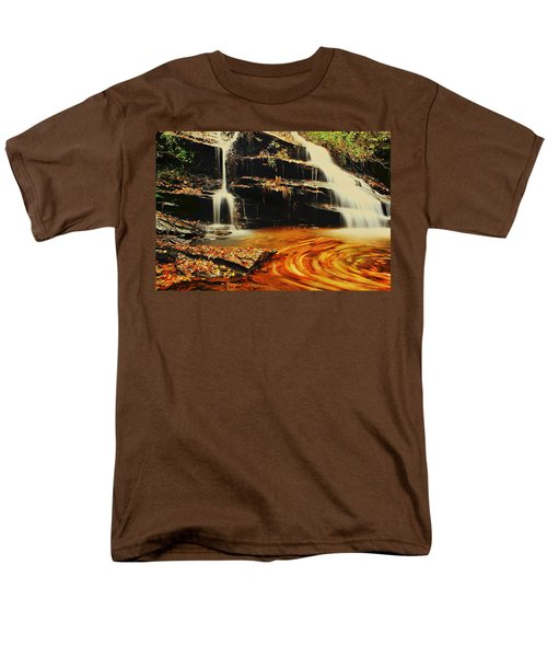 Swirling Leaves Men's T-Shirt  (Regular Fit) by Rodney Lee Williams