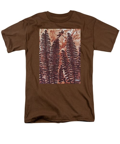 Sword Fern Fossil Men's T-Shirt  (Regular Fit) by Katherine Young-Beck