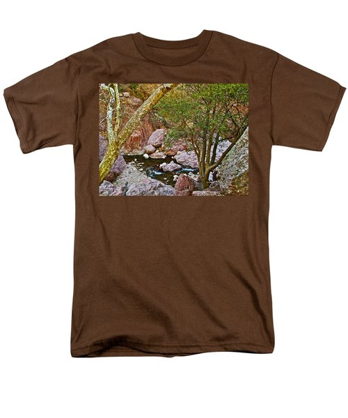Sycamore And Cottonwood In Whitewater Catwalk National Recreation Trail Near Glenwood-new Mexico  Men's T-Shirt  (Regular Fit) by Ruth Hager