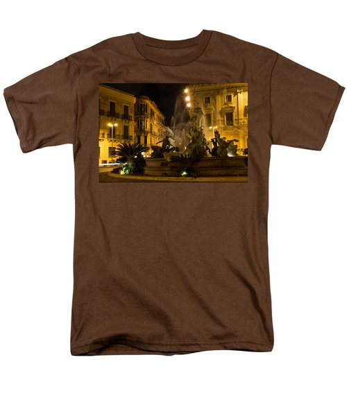 Men's T-Shirt  (Regular Fit) featuring the photograph Syracuse - Diana Fountain  by Georgia Mizuleva