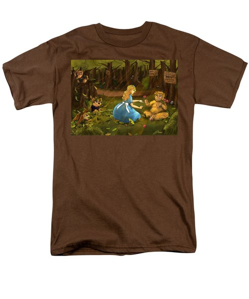 Men's T-Shirt  (Regular Fit) featuring the painting Tammy And The Baby Hoargg by Reynold Jay
