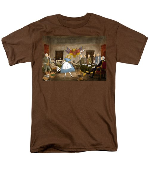 Men's T-Shirt  (Regular Fit) featuring the painting Tammy In Independence Hall by Reynold Jay