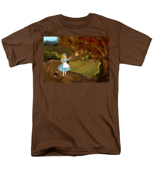 Men's T-Shirt  (Regular Fit) featuring the painting Tammy Meets Zeke The Opossum by Reynold Jay