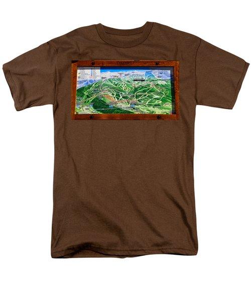 Telluride Ski Map Detail  Men's T-Shirt  (Regular Fit) by David Lee Thompson