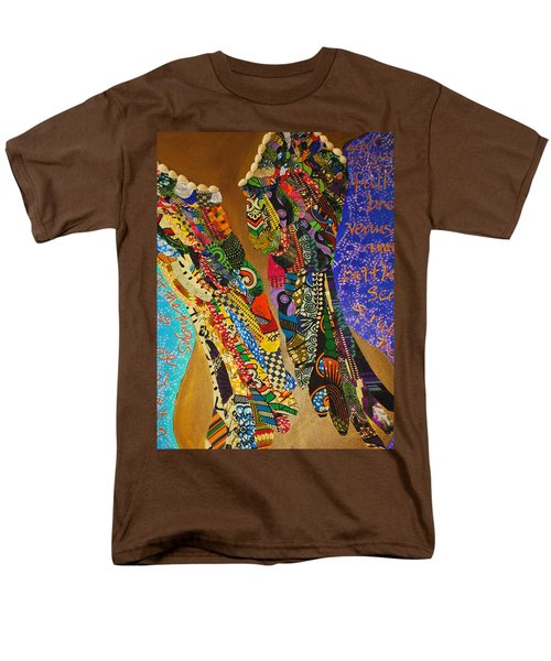 Men's T-Shirt  (Regular Fit) featuring the tapestry - textile Temple Of The Goddess Eye Vol 1 by Apanaki Temitayo M