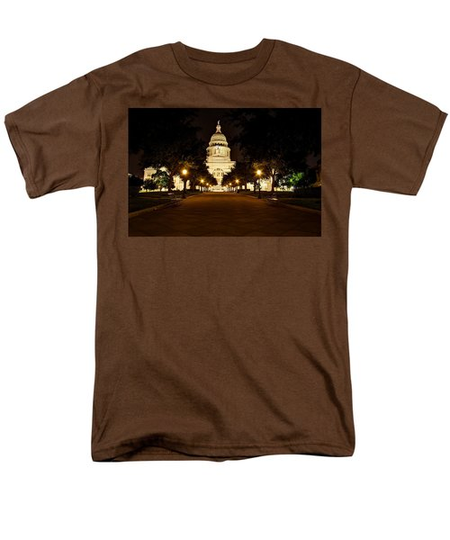 Texas Capitol At Night Men's T-Shirt  (Regular Fit) by Dave Files