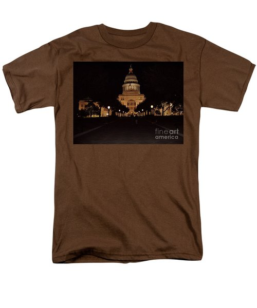 Men's T-Shirt  (Regular Fit) featuring the photograph Texas State Capital by John Telfer