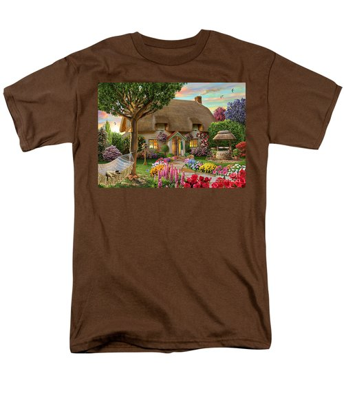 Thatched Cottage Men's T-Shirt  (Regular Fit) by Adrian Chesterman