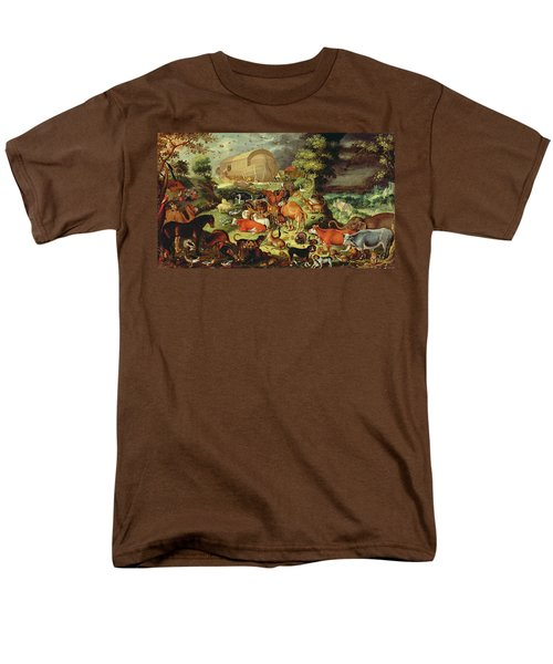 The Animals Entering The Ark Men's T-Shirt  (Regular Fit) by Jacob II Savery