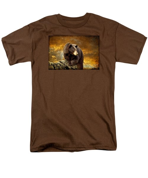 The Bear Went Over The Mountain Men's T-Shirt  (Regular Fit) by Lois Bryan