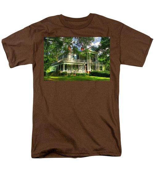 A Southern Bell The Carlton Home Art Southern Antebellum Art Men's T-Shirt  (Regular Fit) by Reid Callaway