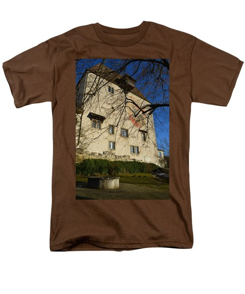 Men's T-Shirt  (Regular Fit) featuring the photograph The Castle Greets A Sunny Day by Felicia Tica