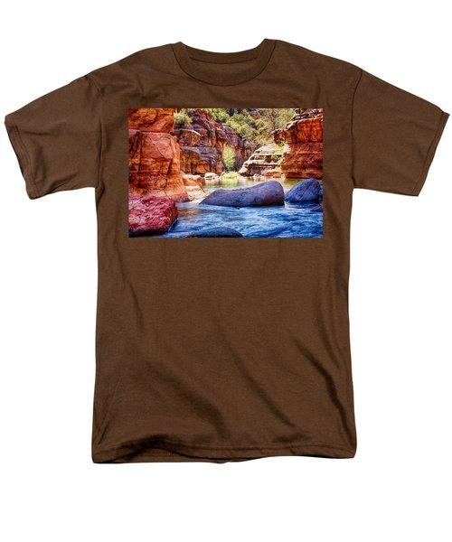 The Colors Of Oak Creek Men's T-Shirt  (Regular Fit) by Fred Larson