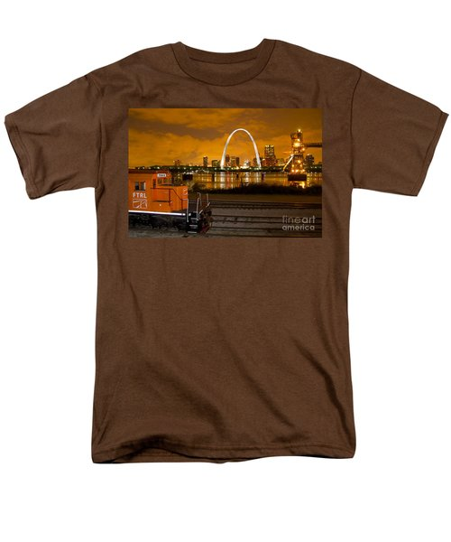 The Ftrl Railway With St Louis In The Background Men's T-Shirt  (Regular Fit) by Garry McMichael