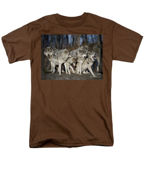 Men's T-Shirt  (Regular Fit) featuring the photograph The Gang by Wolves Only