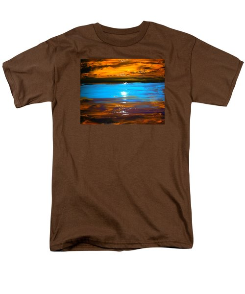 Men's T-Shirt  (Regular Fit) featuring the painting The Golden Sunset by Kicking Bear  Productions