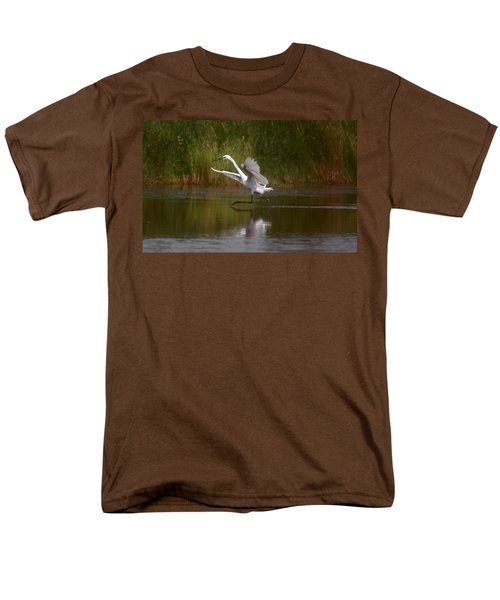 Men's T-Shirt  (Regular Fit) featuring the photograph The Great Egret by Leticia Latocki