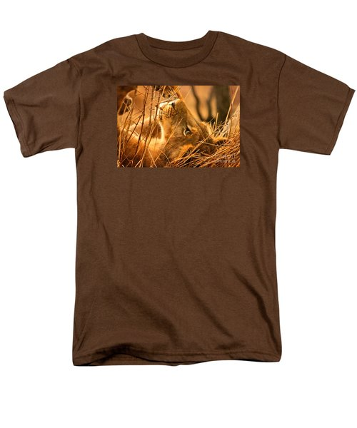 The Lion Muse Men's T-Shirt  (Regular Fit) by Michael Cinnamond