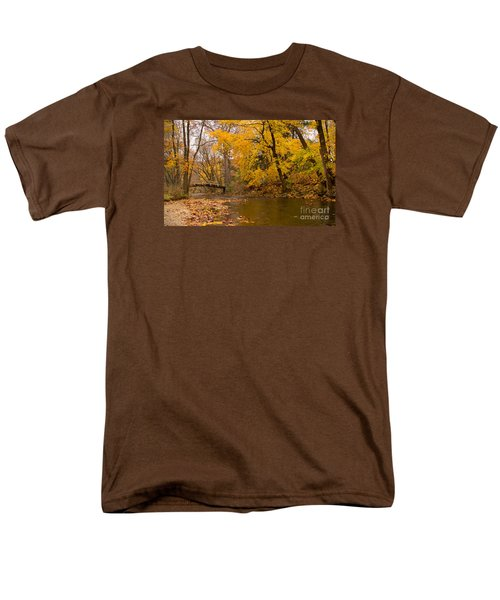 Men's T-Shirt  (Regular Fit) featuring the photograph The Little Bridge Over Valley Creek by Rima Biswas