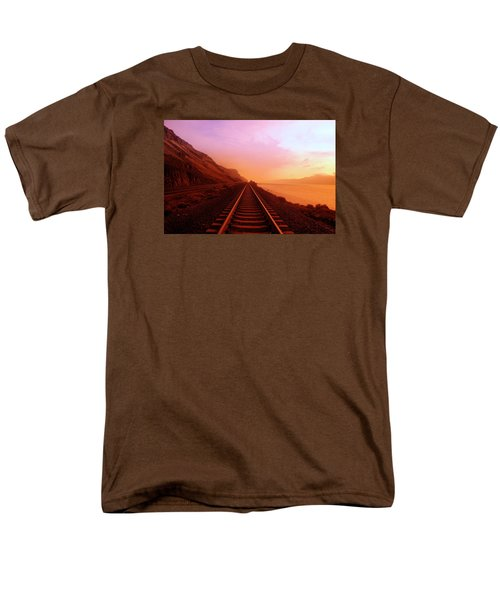 Men's T-Shirt  (Regular Fit) featuring the photograph The Long Walk To No Where  by Jeff Swan