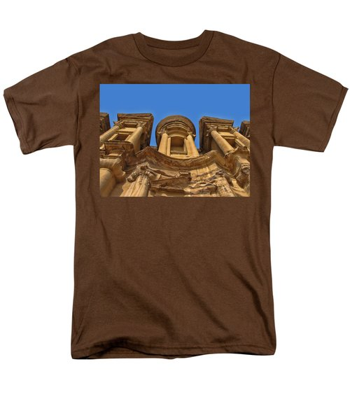 Men's T-Shirt  (Regular Fit) featuring the photograph The Monastery In Petra by David Gleeson