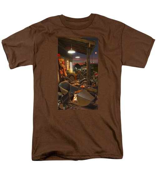 The Motorcycle Shop 2 Men's T-Shirt  (Regular Fit) by Mike McGlothlen