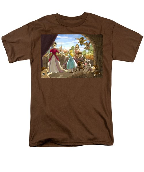 Men's T-Shirt  (Regular Fit) featuring the painting The Palace Balcony by Reynold Jay