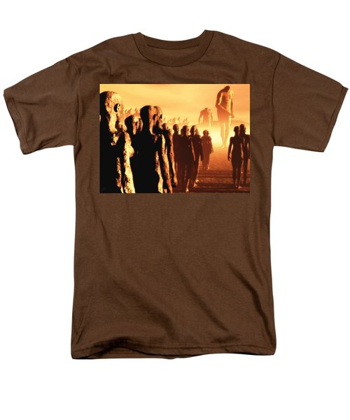 Men's T-Shirt  (Regular Fit) featuring the digital art The Post Apocalyptic Gods by John Alexander