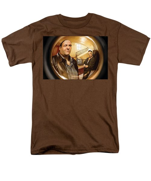 Men's T-Shirt  (Regular Fit) featuring the painting The Sopranos  Artwork 1 by Sheraz A