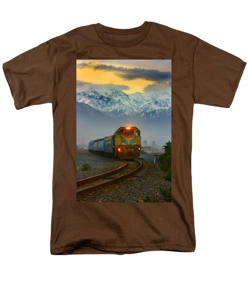 The Southerner Train New Zealand Men's T-Shirt  (Regular Fit) by Amanda Stadther