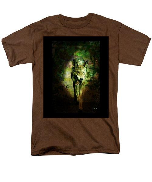 Men's T-Shirt  (Regular Fit) featuring the digital art The Spirit Of The Wolf by Absinthe Art By Michelle LeAnn Scott