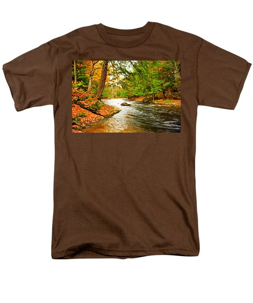Men's T-Shirt  (Regular Fit) featuring the photograph The Stream by Bill Howard