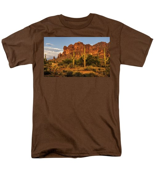 The Superstitions At Sunset  Men's T-Shirt  (Regular Fit) by Saija  Lehtonen