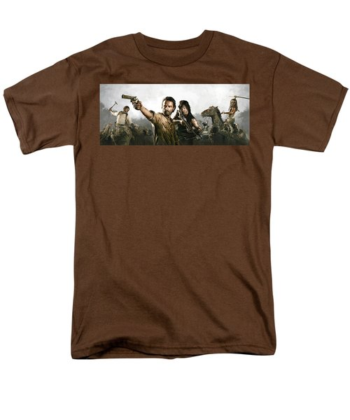 The Walking Dead Artwork 1 Men's T-Shirt  (Regular Fit) by Sheraz A