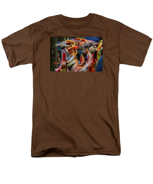 Their Spirit Is Among Us - Nanticoke Powwow Delaware Men's T-Shirt  (Regular Fit)