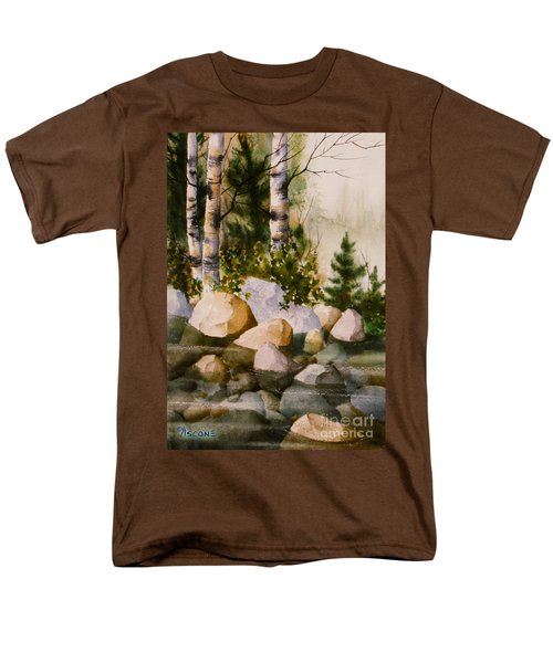 Three Birch By Rocky Stream Men's T-Shirt  (Regular Fit) by Teresa Ascone