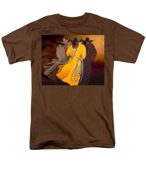 Three Cowboys Men's T-Shirt  (Regular Fit) by Lance Headlee